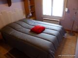 La chambre à coucher du Meublé du Verger